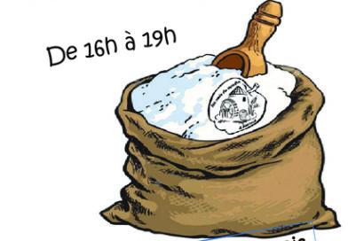 Vente de farine, le 1er samedi du mois 16h à 19h